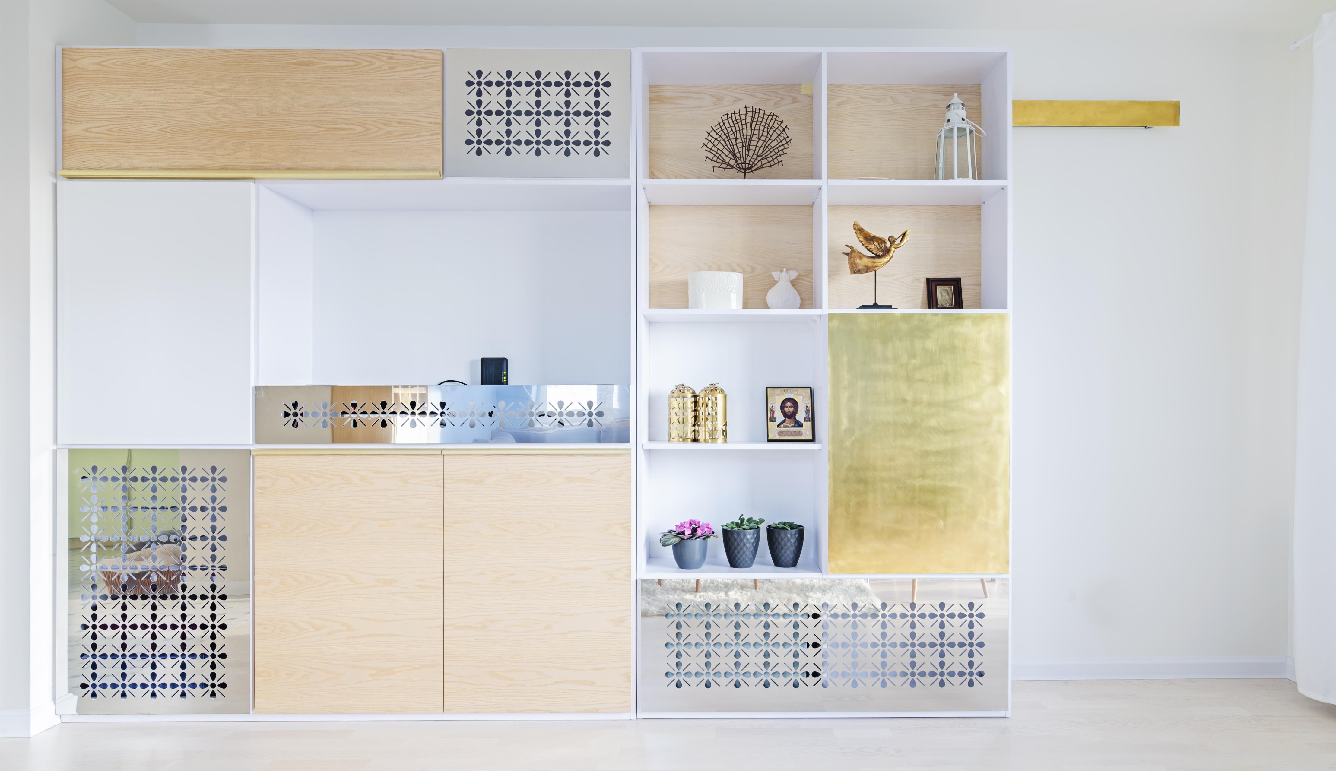 miedź, złoto i srebro, portfolio, laurowa, mieszkanie, projektowanie wnętrz, łazienka