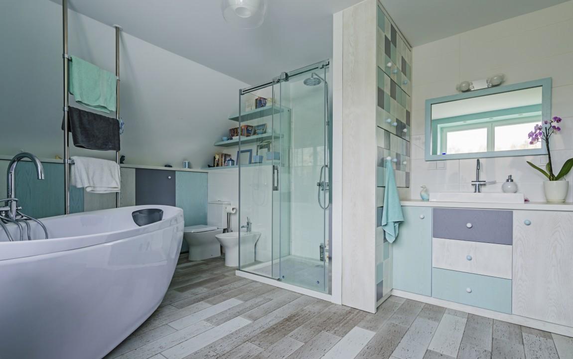 blękti, salon kąpielowy, portfolio, łazienka, projektowanie wnętrz