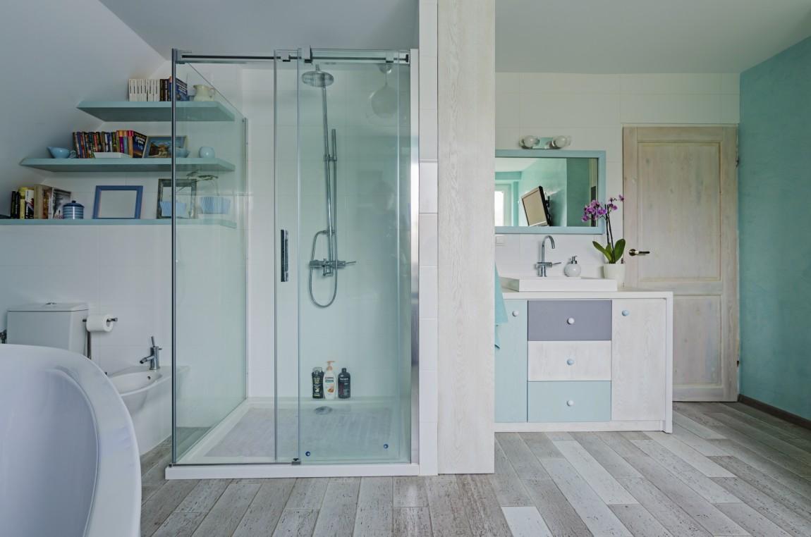 portfolio, łazienka, projektowanie wnętrz, BŁĘKIT, SALON KĄPIELOWY