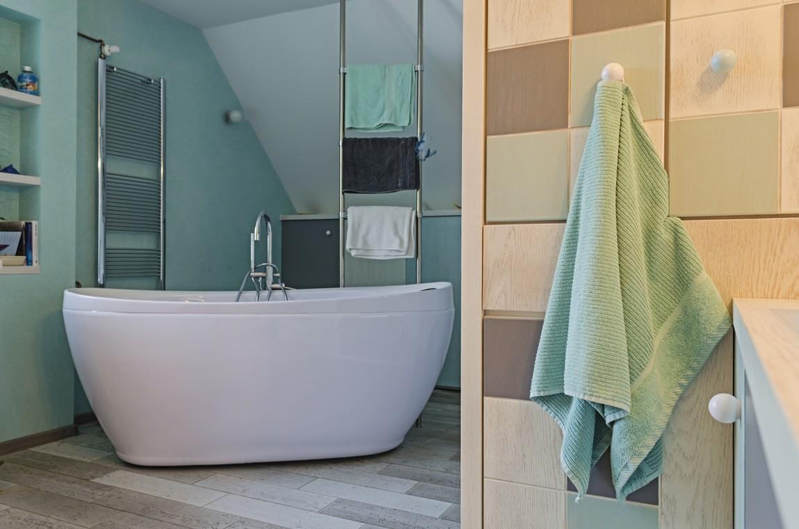 wieszak, salon kąpielowy, portfolio, łazienka, projektowanie wnętrz