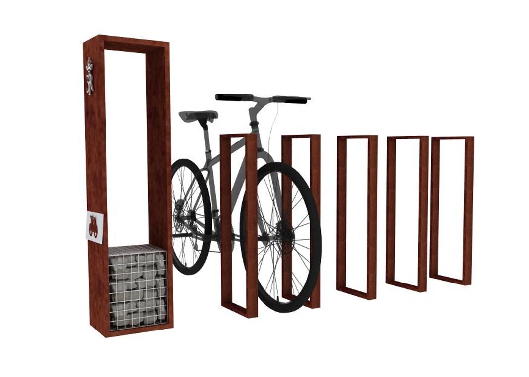 stojak na rowery, portfolio, szlak jana III sobieskiego, jIIIs, mała architektura, spiczyn,