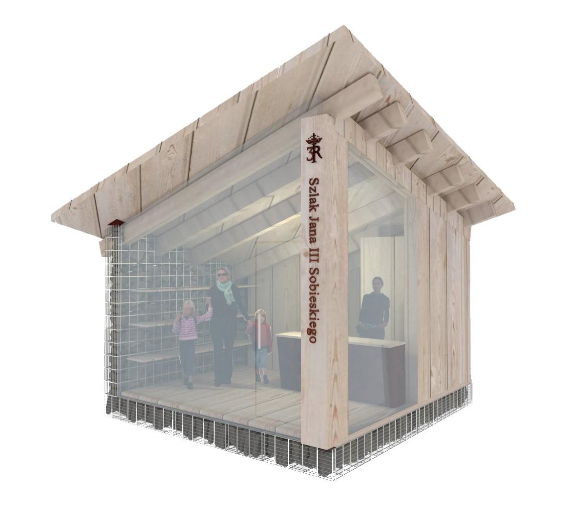 kiosk, portfolio, szlak jana III sobieskiego, jIIIs, mała architektura, spiczyn, kiosk