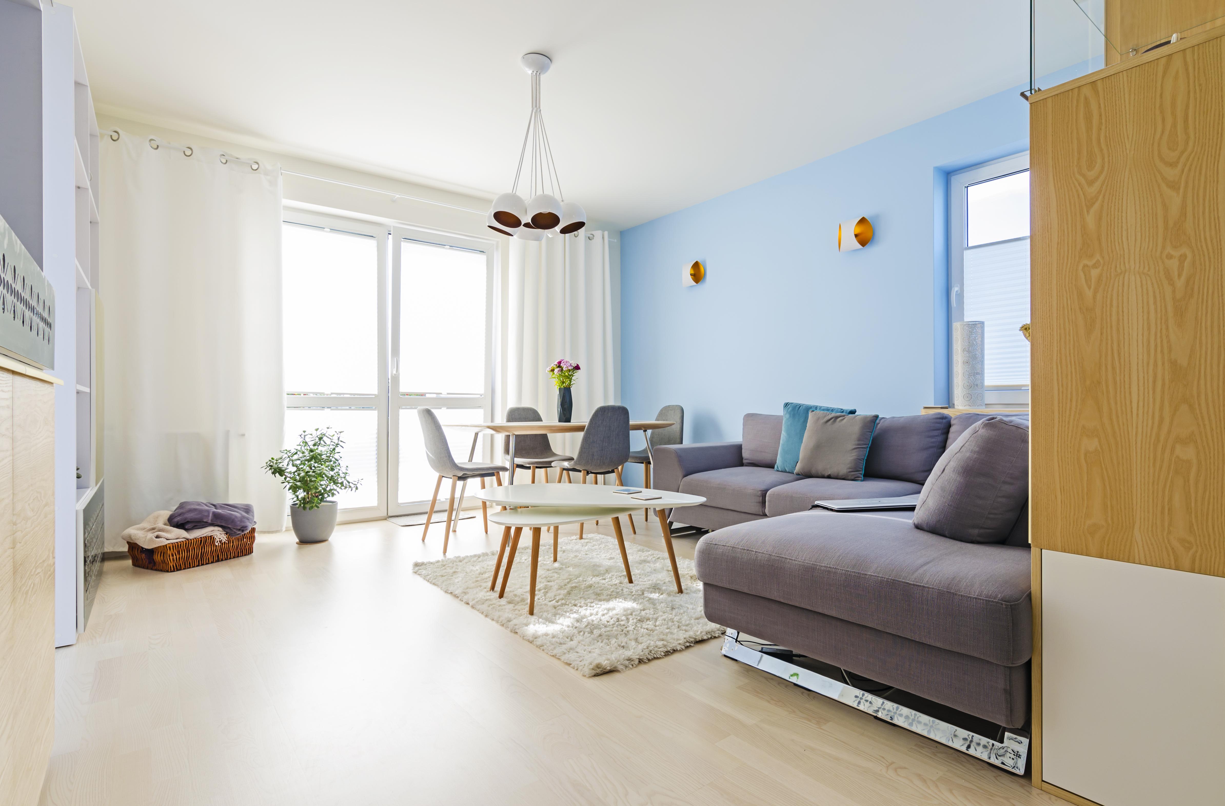 pokój dzienny, złoto i srebro, portfolio, laurowa, mieszkanie, projektowanie wnętrz
