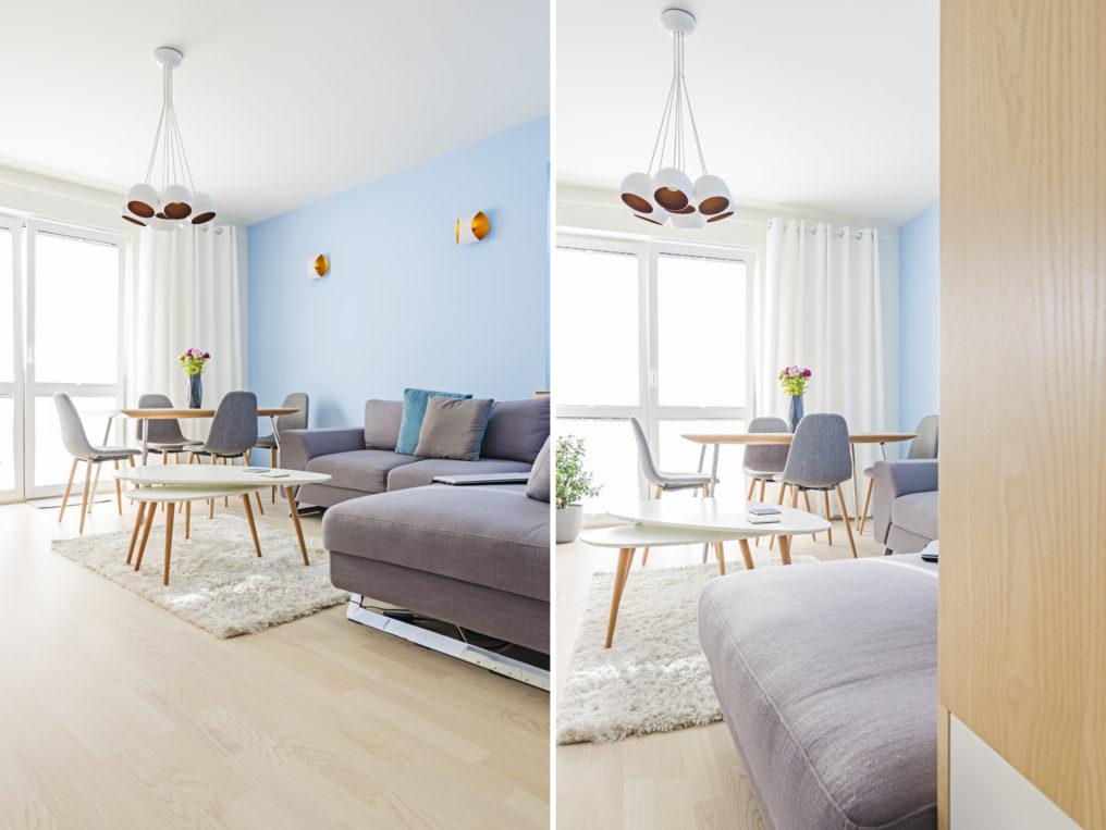sofa, złoto i srebro, portfolio, laurowa, mieszkanie, projektowanie wnętrz, łazienka