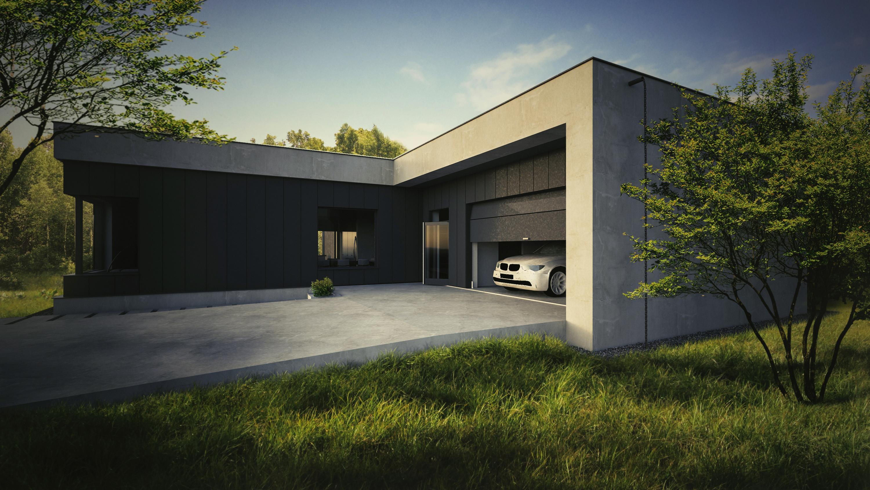 projektowanie domów, portfolio, dom x, dom jednorodzinny, moszna, lublin, wizualizacja
