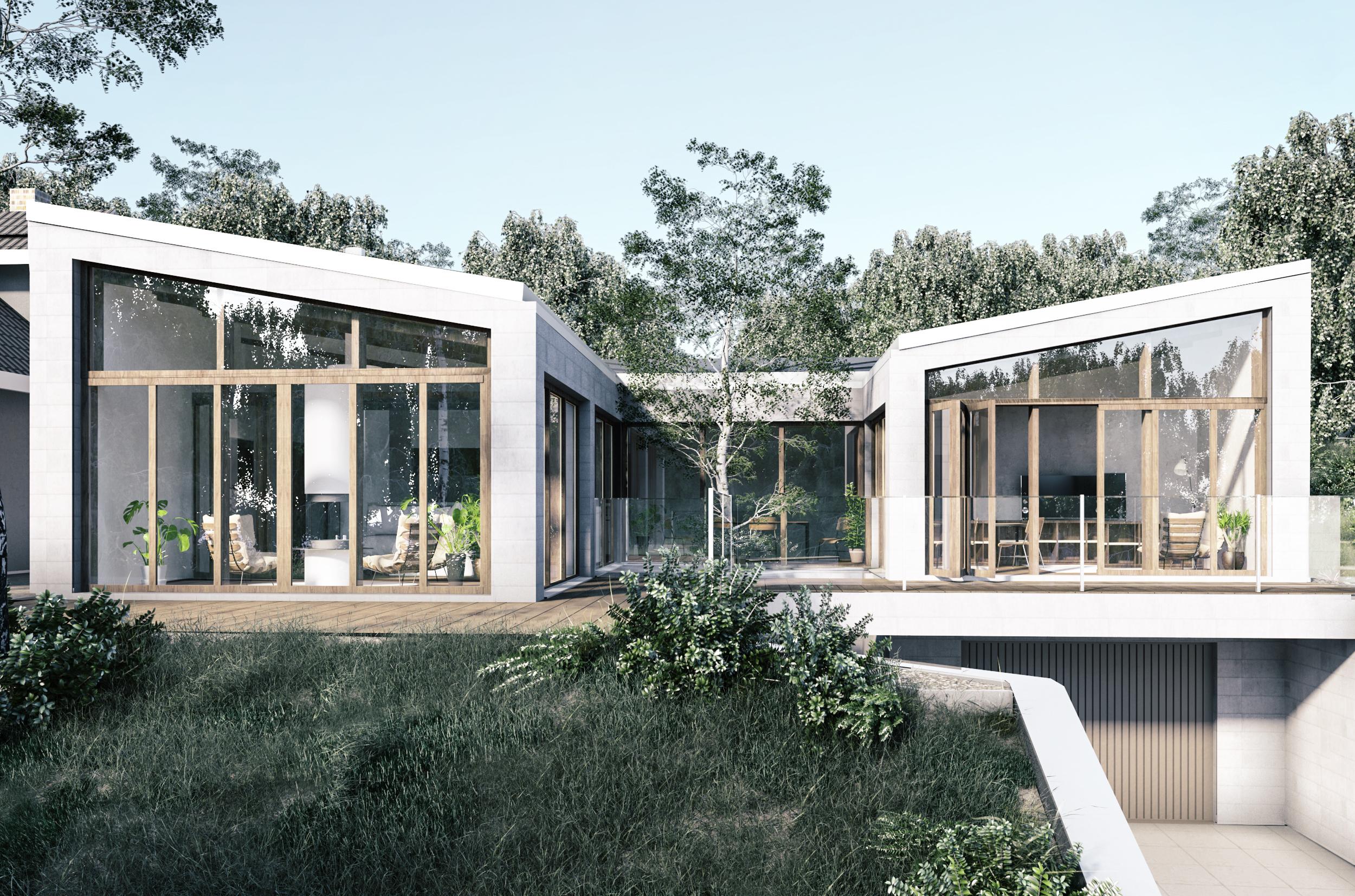 dom w skarpie, dom jednorodzinny, lublin, wizualizacja, jesteśmy mma, portfolio,